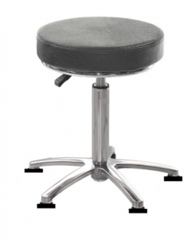 Tabouret Galette assise polyuréthane 5 Patins